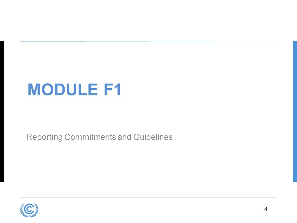 Module F1 Reporting Commitments and Guidelines 4