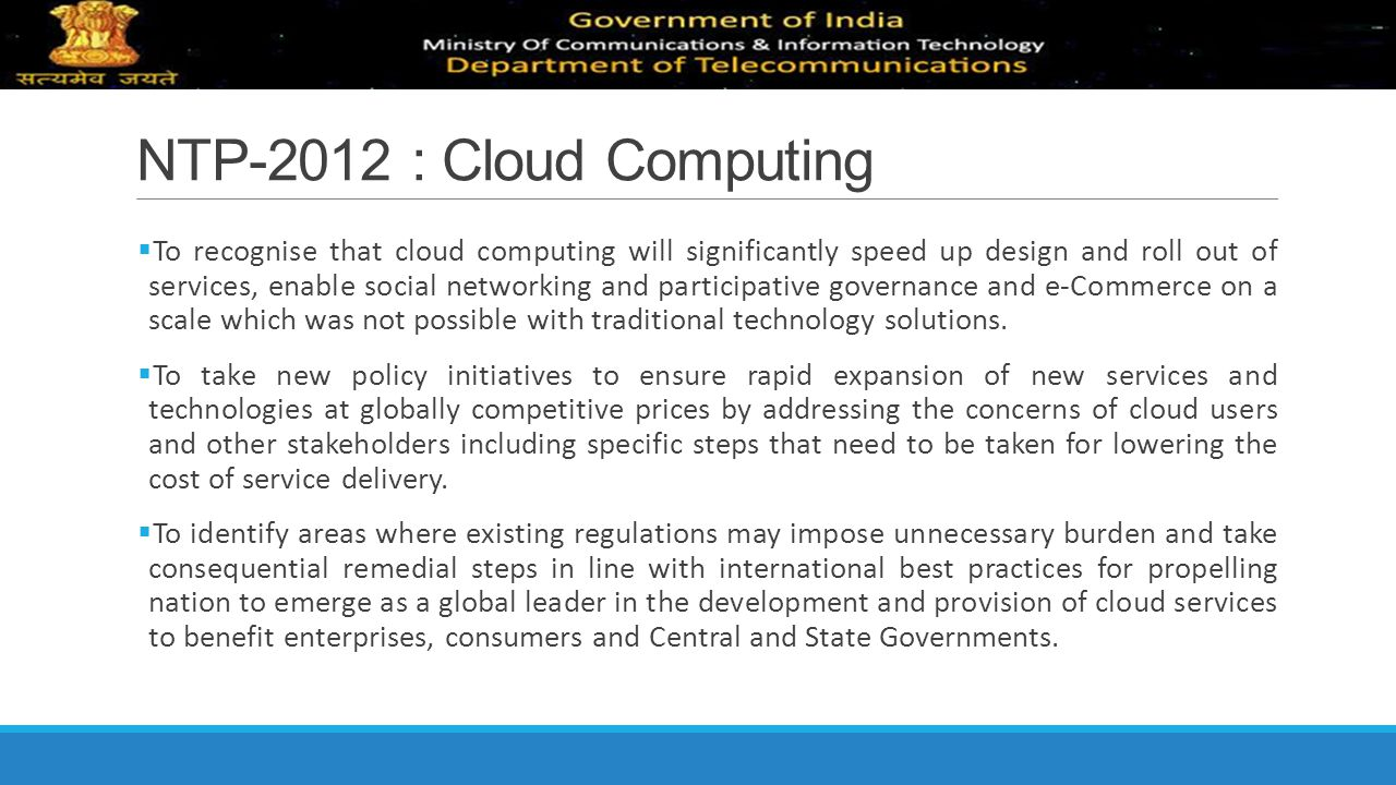 NTP-2012 : Cloud Computing