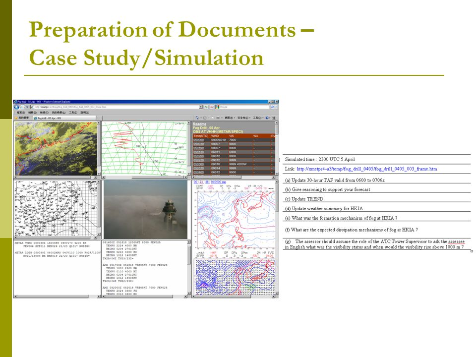 Preparation of Documents – Case Study/Simulation