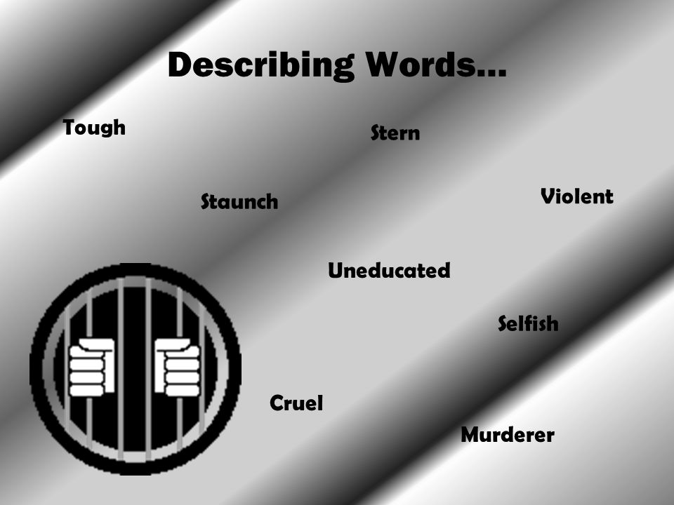 Describing Words… Tough Stern Violent Staunch Uneducated Selfish Cruel