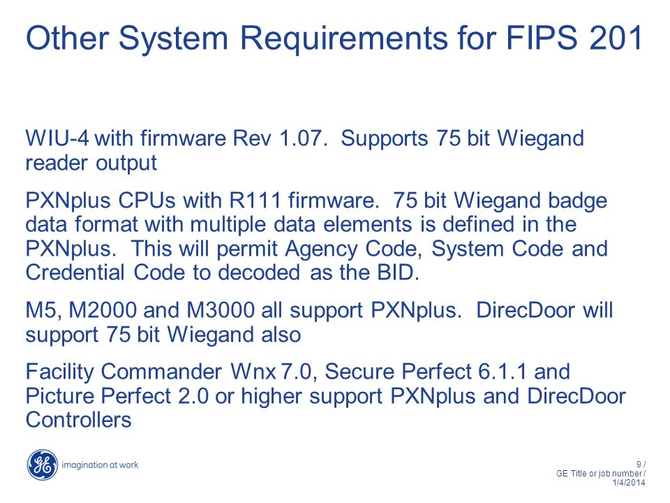 Other System Requirements for FIPS 201
