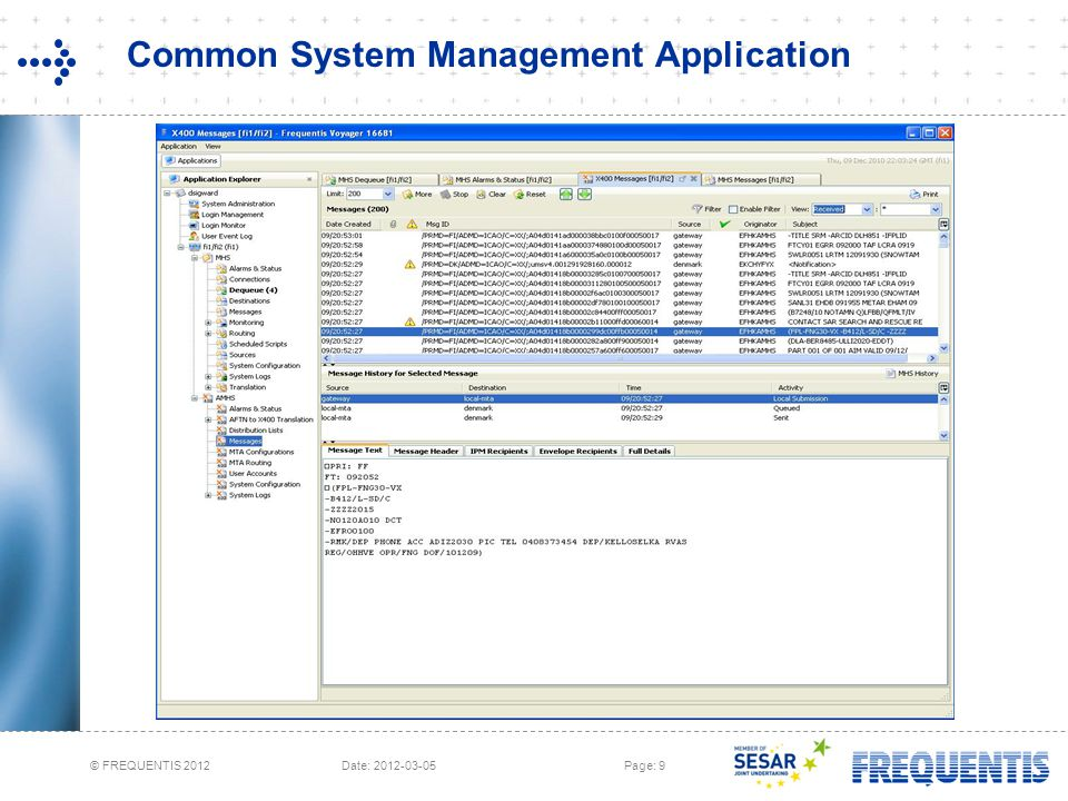 Common System Management Application