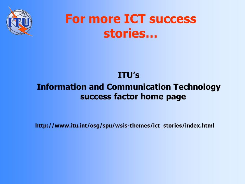 For more ICT success stories…