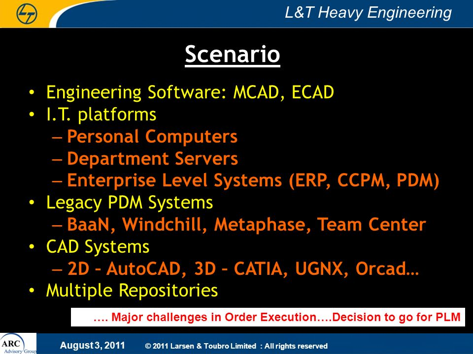 Scenario Engineering Software: MCAD, ECAD I.T. platforms
