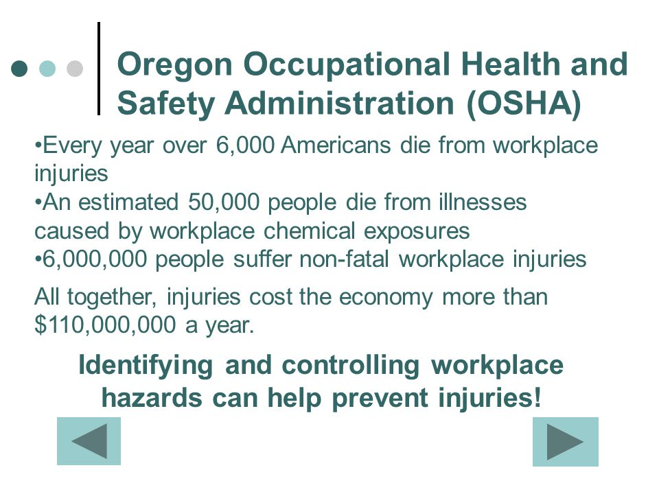 Oregon Occupational Health and Safety Administration (OSHA)