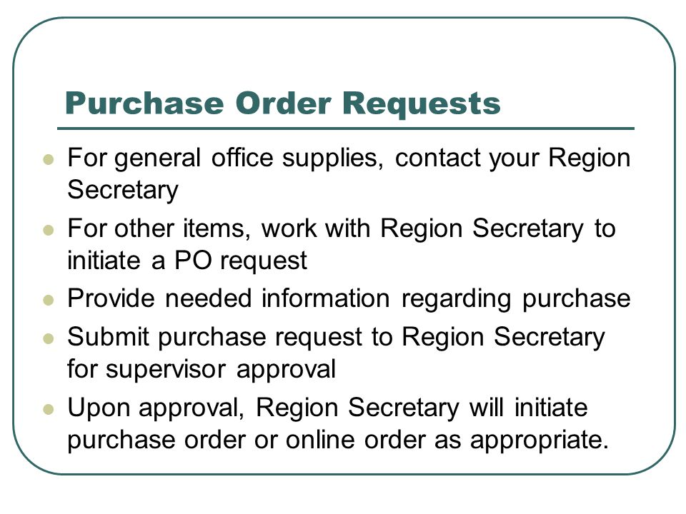 Purchase Order Requests