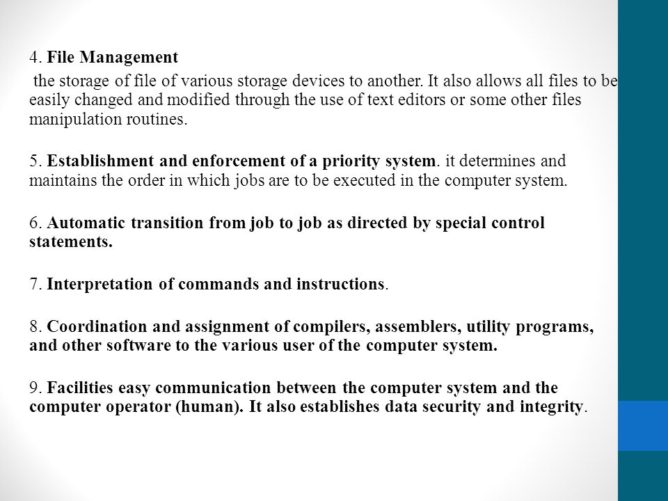 4. File Management
