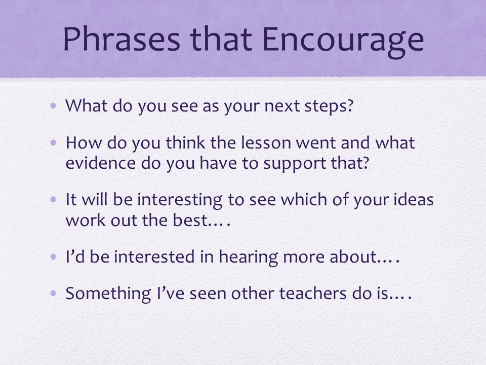 Phrases that Encourage