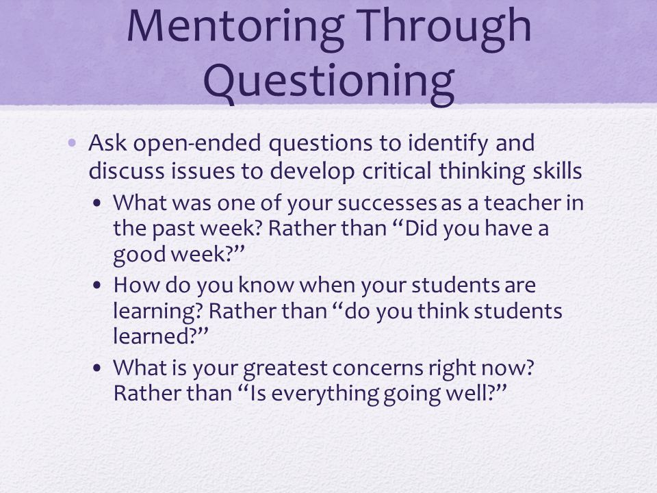 Mentoring Through Questioning
