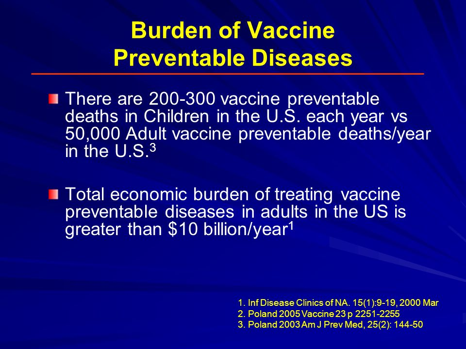 Burden of Vaccine Preventable Diseases