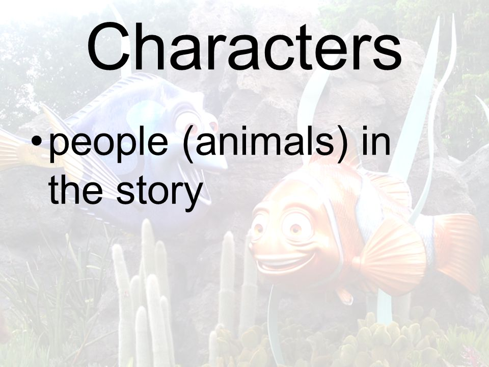 Characters people (animals) in the story