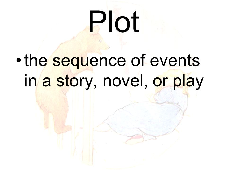 Plot the sequence of events in a story, novel, or play