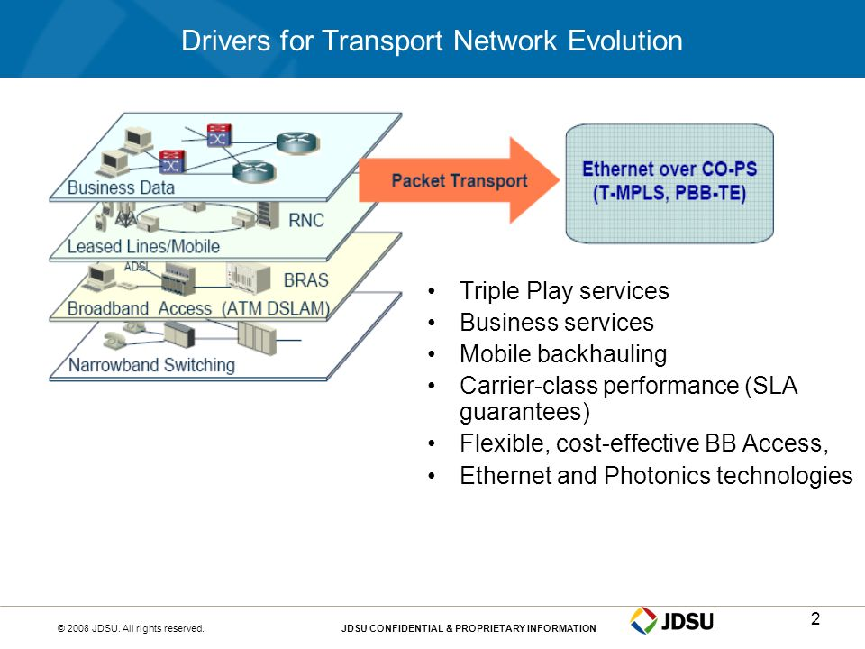 Drivers for Transport Network Evolution