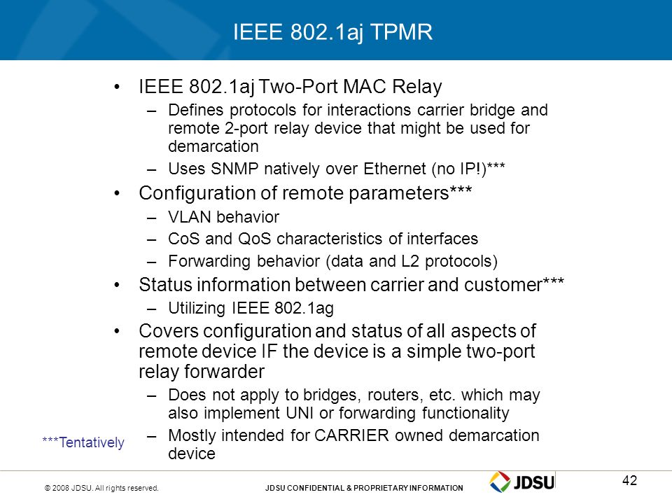 IEEE 802.1aj TPMR IEEE 802.1aj Two-Port MAC Relay