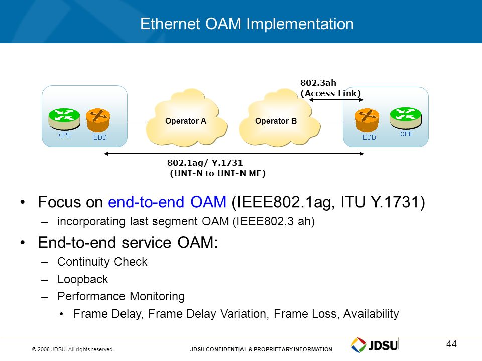 Ethernet OAM Implementation