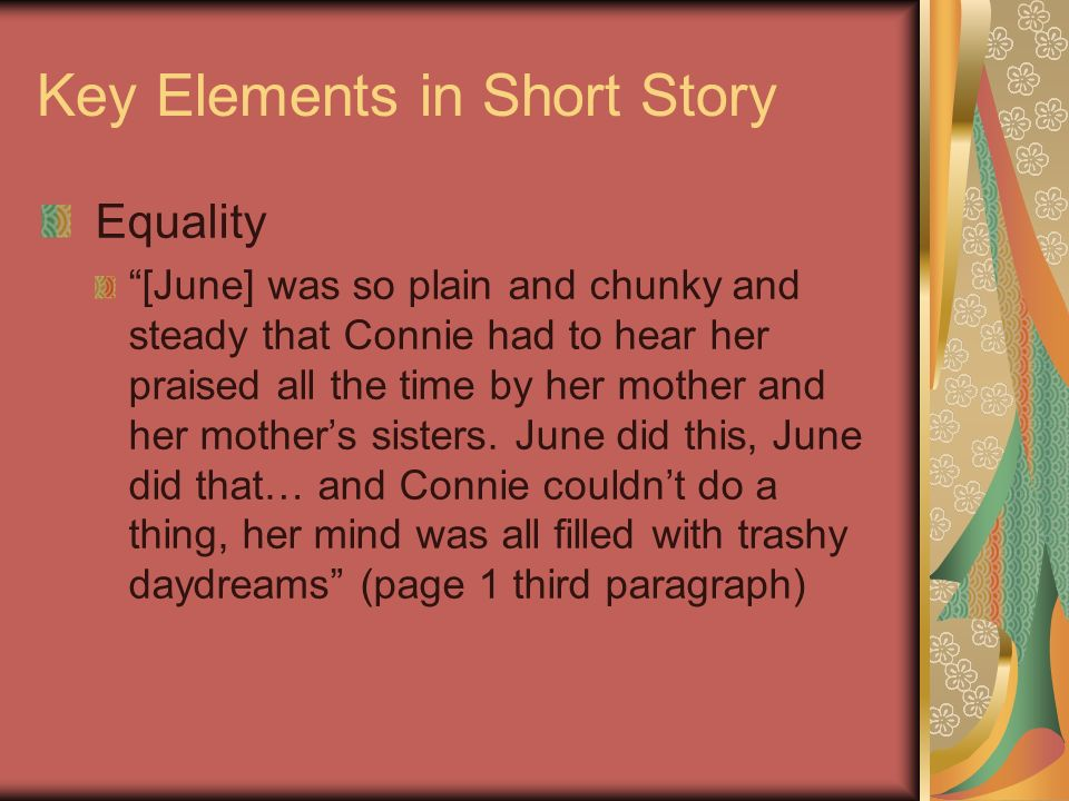 Key Elements in Short Story