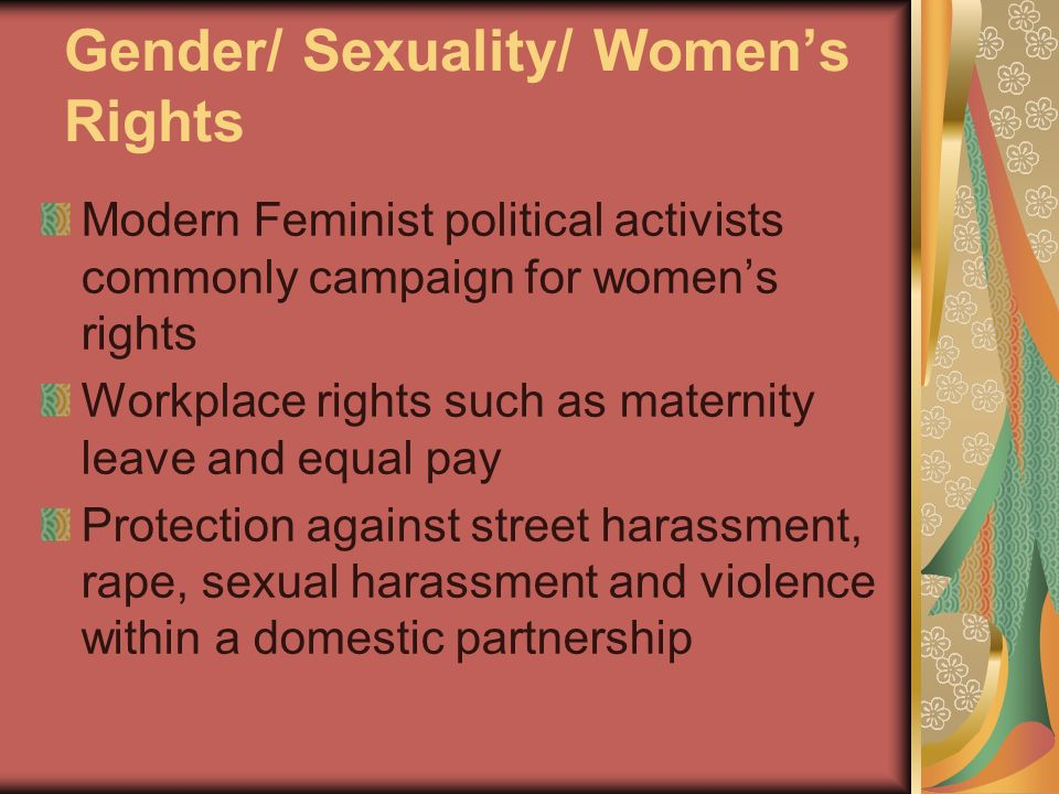 Gender/ Sexuality/ Women's Rights
