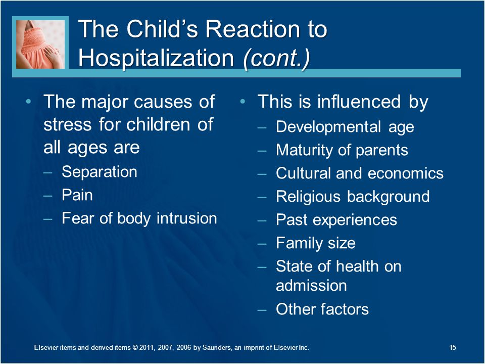 The Child's Reaction to Hospitalization (cont.)