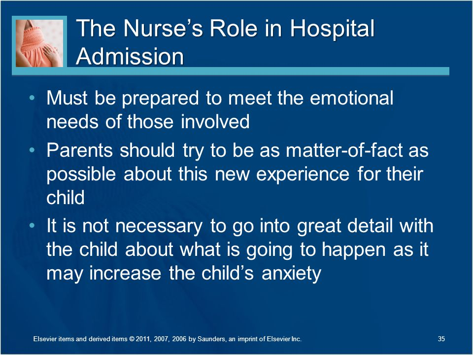 The Nurse's Role in Hospital Admission