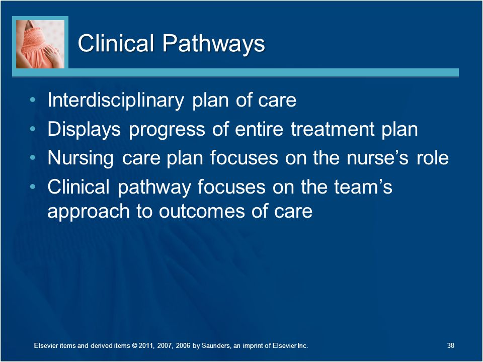Clinical Pathways Interdisciplinary plan of care