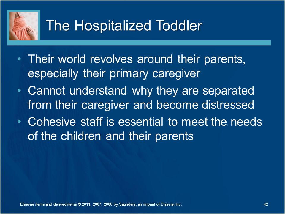The Hospitalized Toddler
