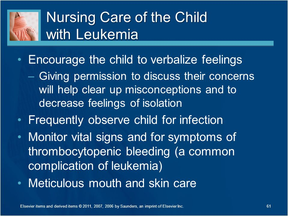 Nursing Care of the Child with Leukemia