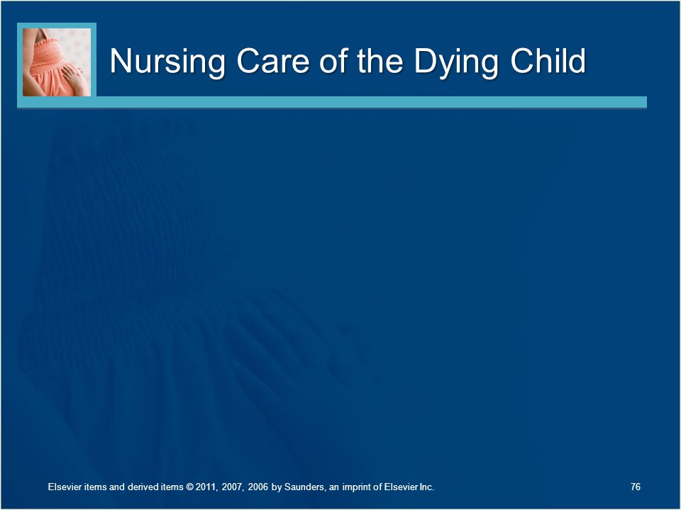 Nursing Care of the Dying Child