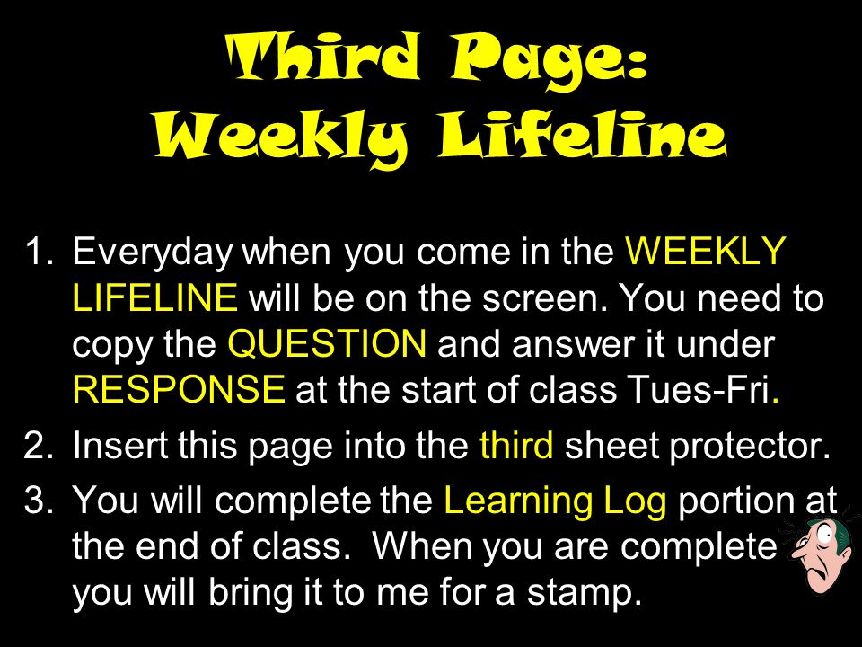 Third Page: Weekly Lifeline