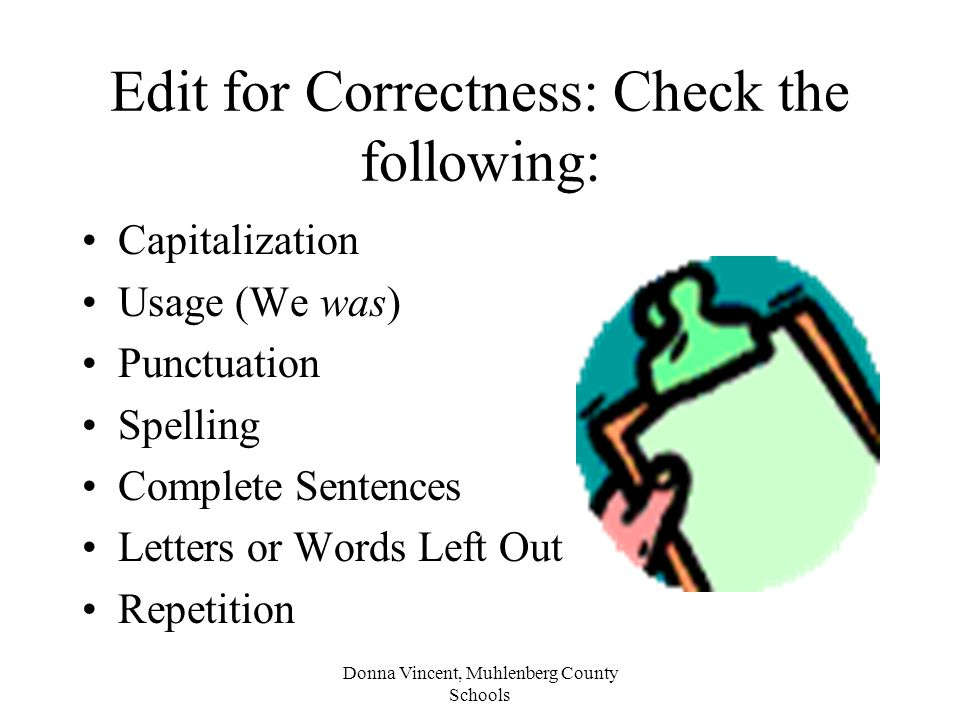 Edit for Correctness: Check the following: