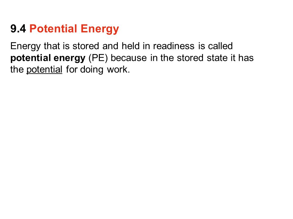 9.4 Potential Energy