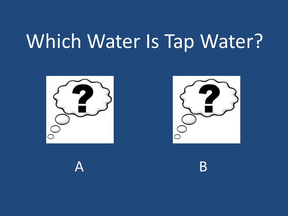 Which Water Is Tap Water