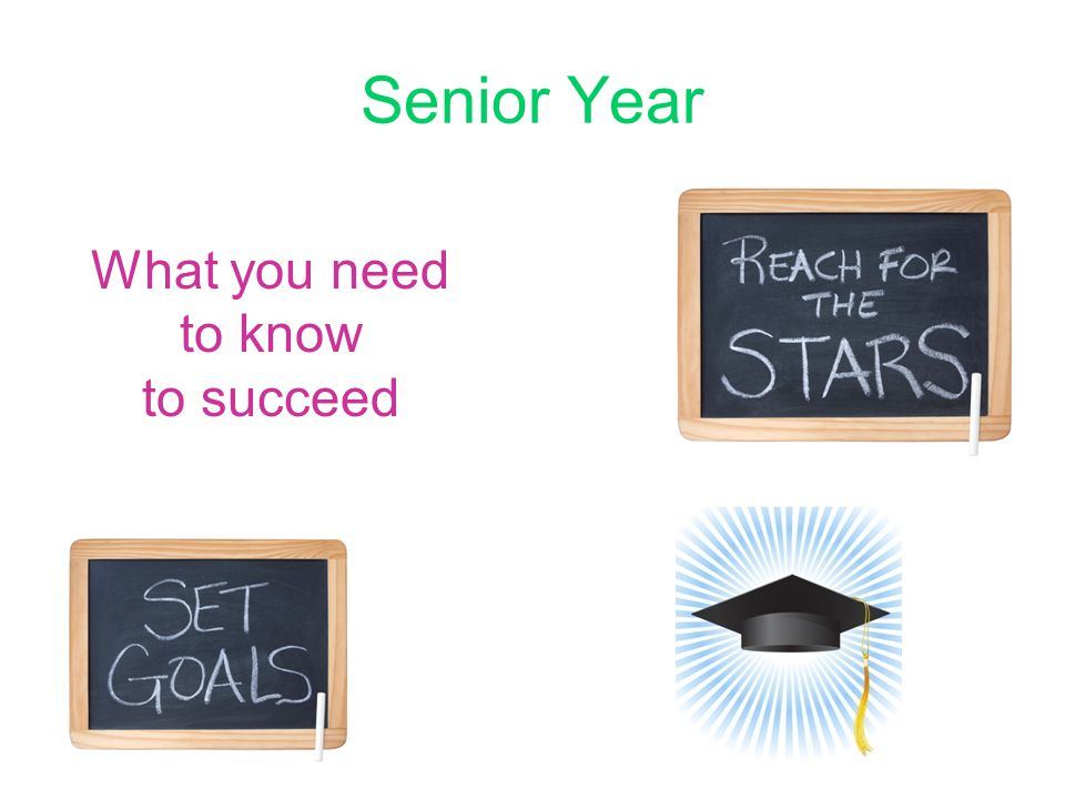 Senior Year What you need to know to succeed