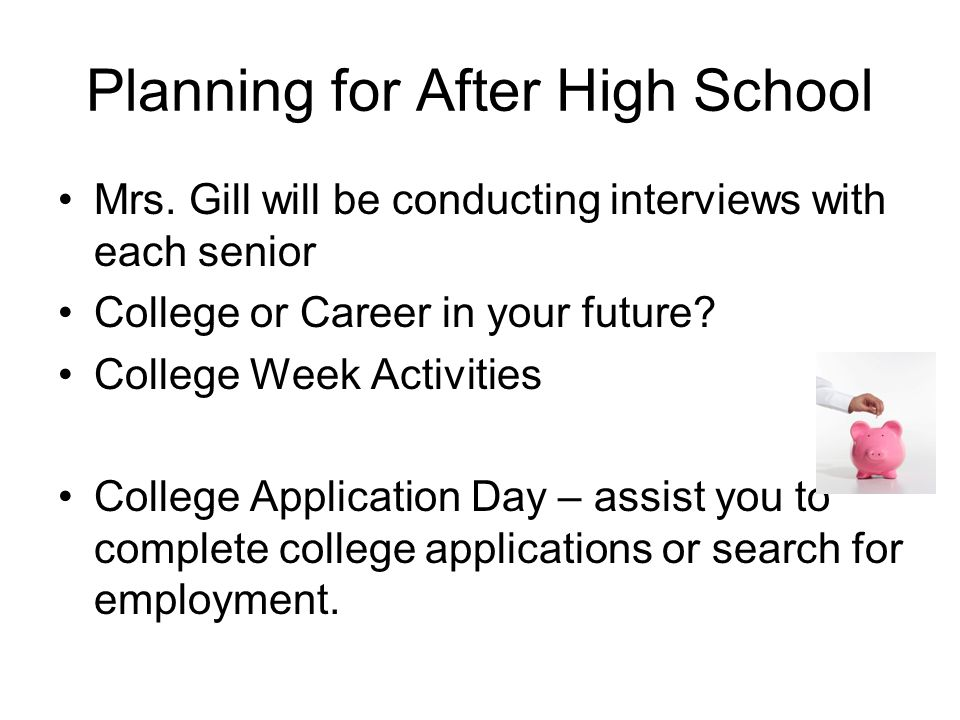 Planning for After High School