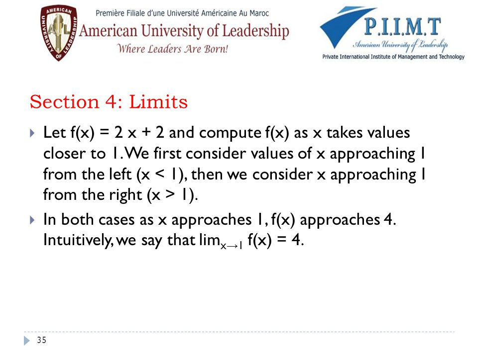 Section 4: Limits