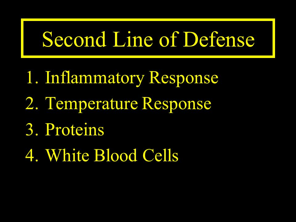 Second Line of Defense Inflammatory Response Temperature Response