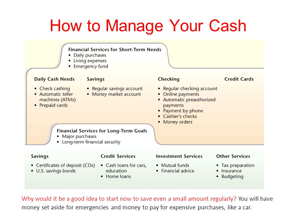 How to Manage Your Cash