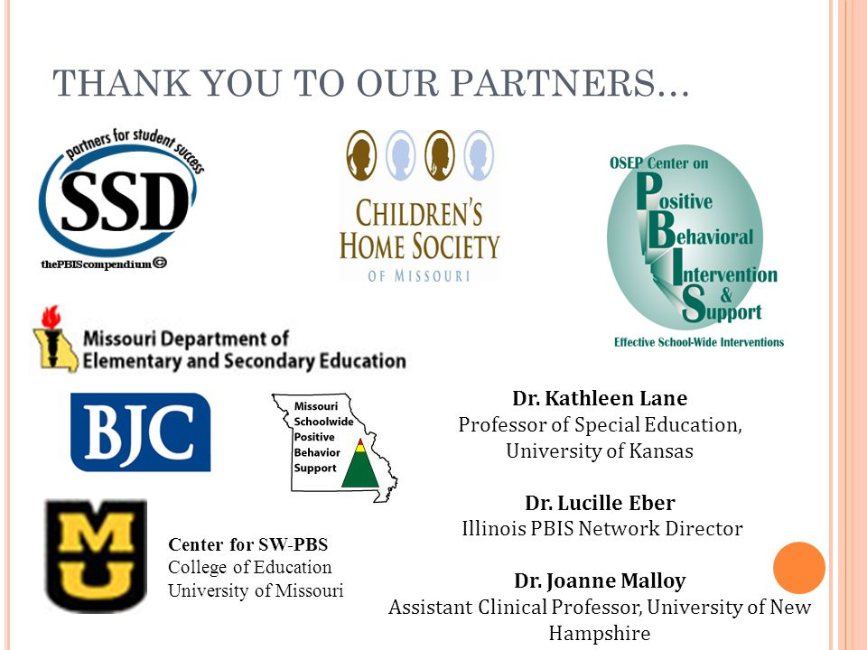 THANK YOU TO OUR PARTNERS…
