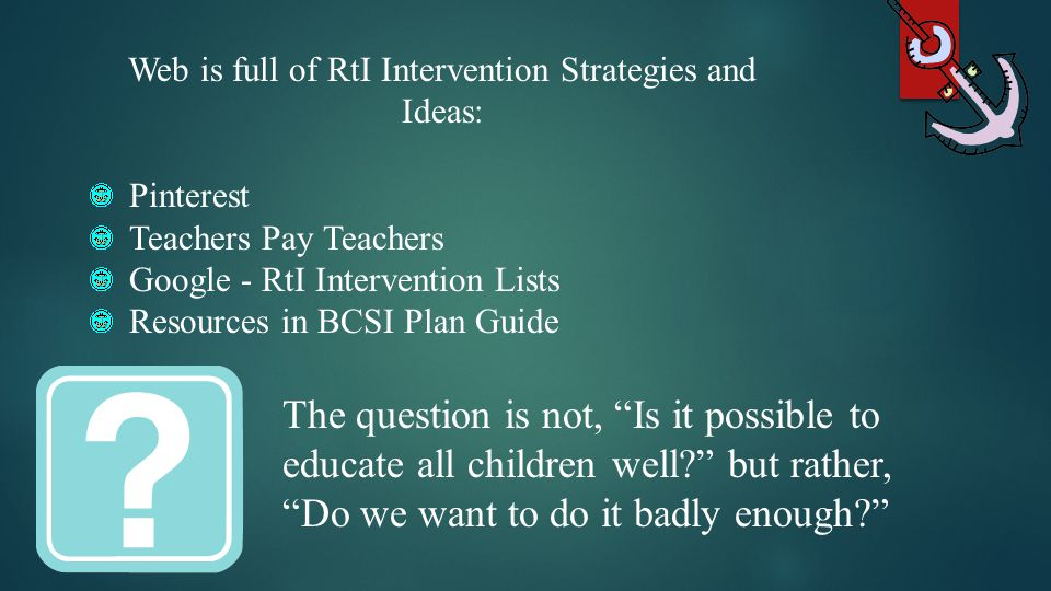Web is full of RtI Intervention Strategies and Ideas: