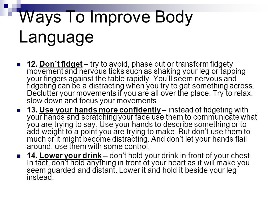 Ways To Improve Body Language
