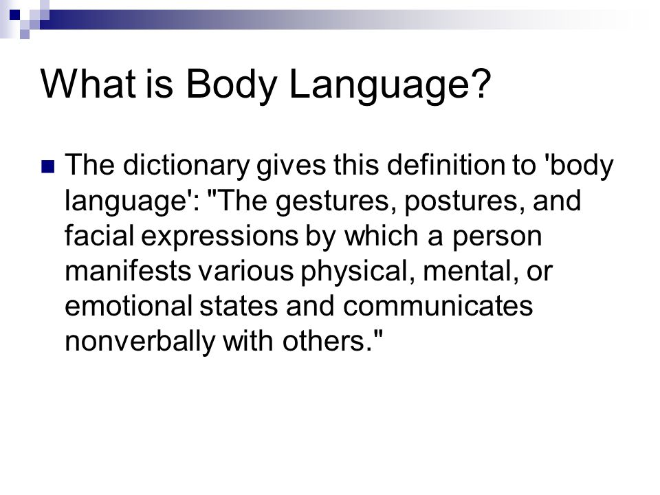 What is Body Language