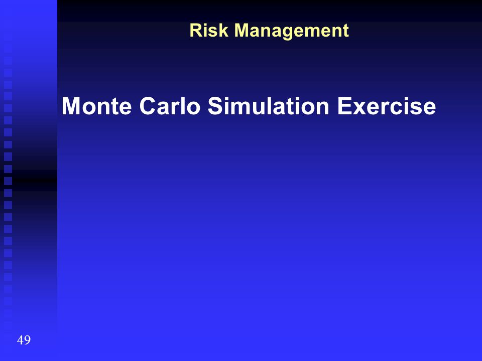 Monte Carlo Simulation Exercise