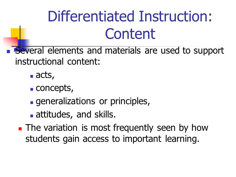 Content For Differentiated Instruction User Guide Manual That Easy
