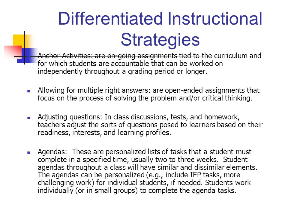Effective Instruction Differentiated Instruction Ppt Download