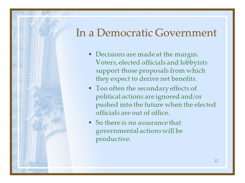 In a Democratic Government