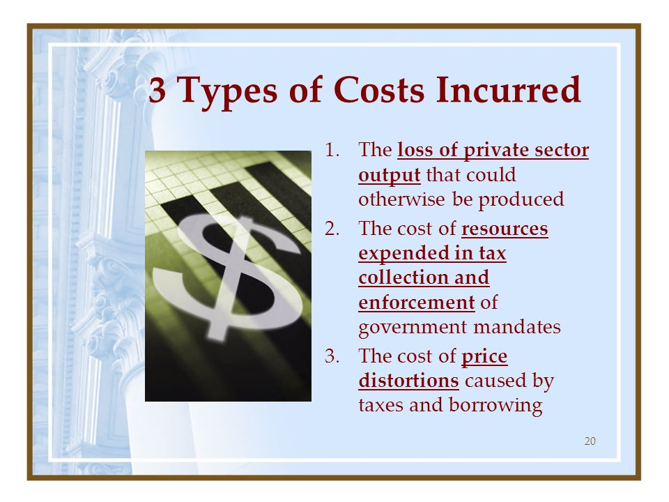 3 Types of Costs Incurred