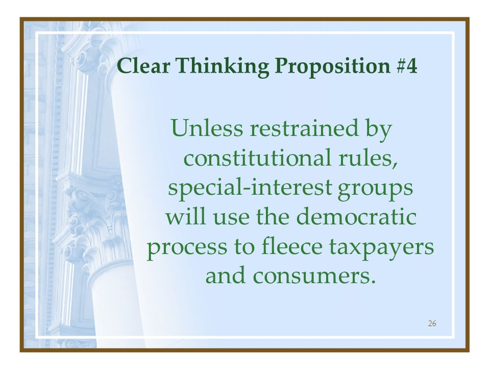 Clear Thinking Proposition #4