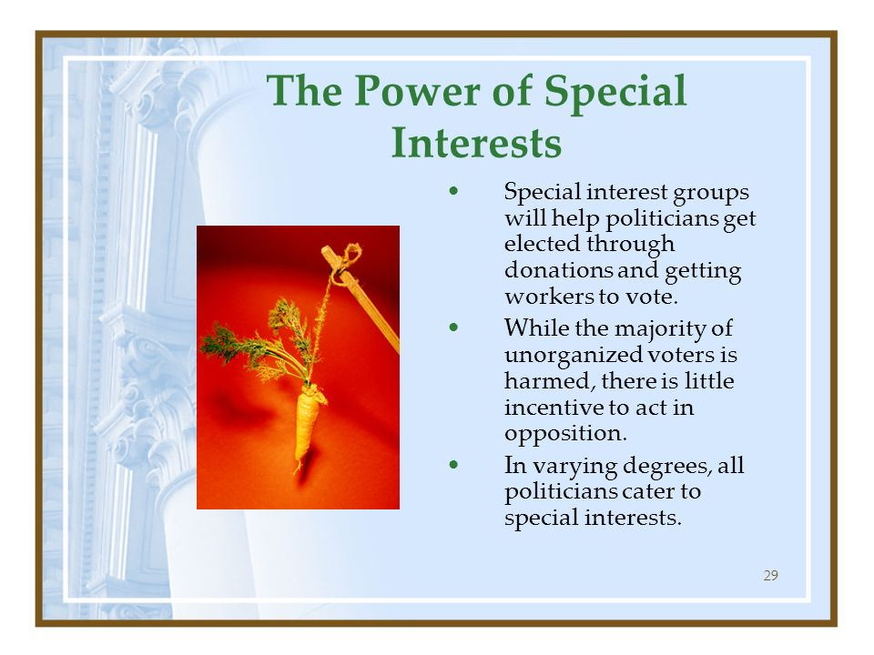 The Power of Special Interests