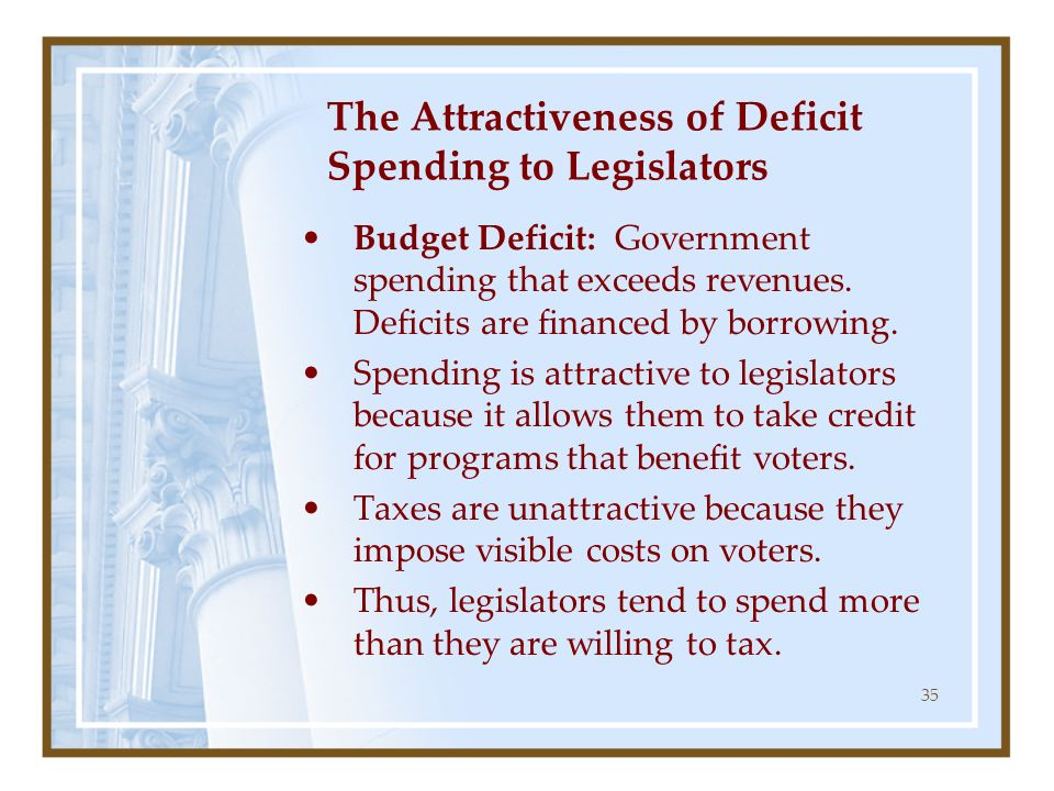 The Attractiveness of Deficit Spending to Legislators