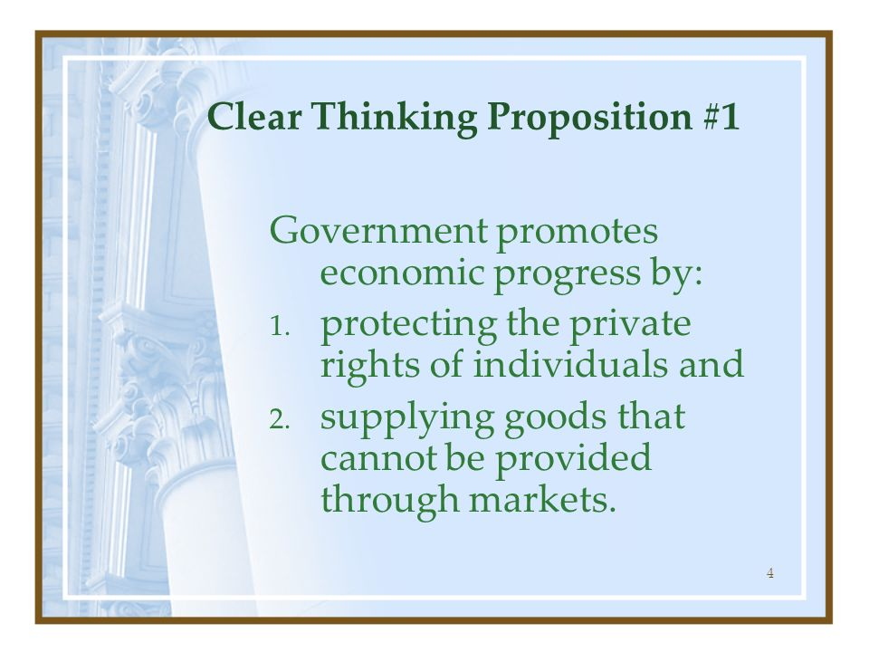 Clear Thinking Proposition #1