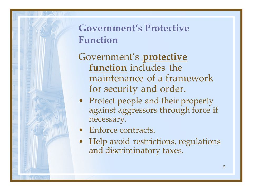 Government's Protective Function